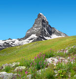 Views of the mountain Matterhorn Royalty Free Stock Photo