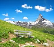 Views of the mountain Matterhorn Stock Photos