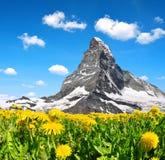 Views of the mountain Matterhorn Royalty Free Stock Image