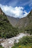 Views of the Streams Near Machu Picchu. Views of the mountain streams from the train bound for Machu Picchu, Peru stock images