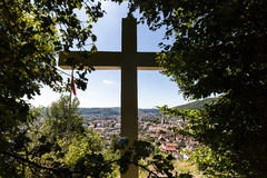 Views from the Mountain Sulperg to Wettingen Royalty Free Stock Photography