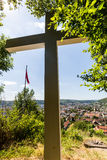 Views from the Mountain Sulperg to Wettingen Stock Image