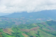 Views of the mountains in Khun Sathan national park Royalty Free Stock Photography