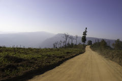 Views of the mountains and mountain roads. Royalty Free Stock Images