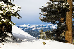 Views of Mountains near Lake Tahoe Royalty Free Stock Photos