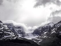 Views on Mountains surrounding Columbia Icefield and Glacier, Canada royalty free stock images