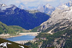 Views of the mountains of Val di Fassa Royalty Free Stock Images