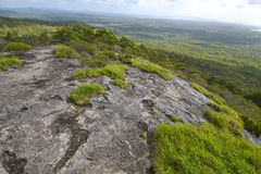 Views from Mt Tinbeerwah, Sunshine Coast, Queensland, Australia. Lake Cooroibah and Lake Cootharaba near Noosa at Sunset - from the summit of Mt Tinbeerwah. Mt stock photography