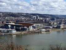 Views from Mt Washington Ohio River Pgh Pa royalty free stock images