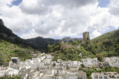 Views of the municipality of Cazorla and its castle in the province of Jaen, Andalusia Royalty Free Stock Photography