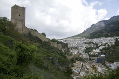 Views of the municipality of Cazorla and its castle in the province of Jaen, Andalusia Stock Image