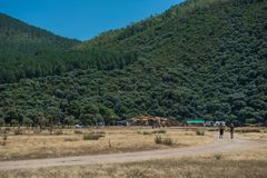 Views of the natural enviroment where the Lost Theory psytransce music festival is held, near Riomalo de Abajo