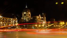 Types of the night city of Baku. 4K stock video footage