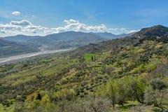 Views from Noepoli in Basilicata, Italy Royalty Free Stock Photography