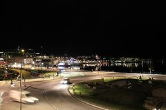 Views of the Northern Harbour in Luleå. Views of the Northern Harbour in Luleå an autumn evening Stock Photography