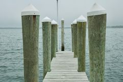 Wooden Dock in Montauk, New York. royalty free stock images
