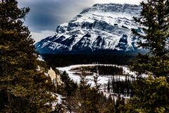 Free Views Of The Bow Valley From Tunnel Mountain. Banff National Park Alberta Canada Stock Photography - 203151092