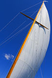 Views Of The Private Sail Yacht. Royalty Free Stock Photos