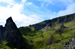 Views From Old Man of Storr. Breathtaking views from Old Man of Storr in Scotland Royalty Free Stock Images