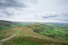 Views over the hills of the Peak District Stock Images