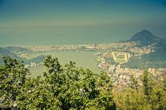 Views over Ipanema from Corcovado Rio Royalty Free Stock Photo