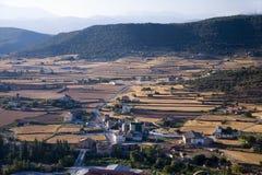 Views from Parador de Cardona, a 9th Century medieval hillside Castle, near Barcelona, Catalonia, Cardona, Spain Stock Image