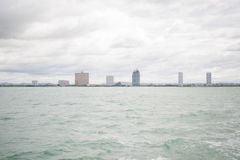 Views of Pattaya from the ship in the Gulf of Thailand. Stock Images
