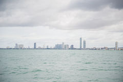 Views of Pattaya from the ship in the Gulf of Thailand. Stock Photography