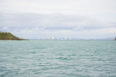 Views of Pattaya from the ship in the Gulf of Thailand. Royalty Free Stock Photo