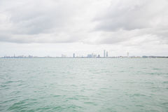 Views of Pattaya from the ship in the Gulf of Thailand. Royalty Free Stock Photography