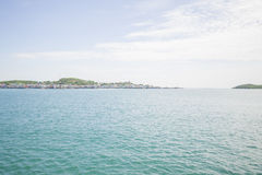 Views of Pattaya from the ship in the Gulf of Thailand. Royalty Free Stock Image