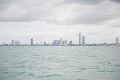 Views of Pattaya from the ship in the Gulf of Thailand. Royalty Free Stock Photos
