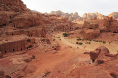 Views of Petra. Reserve. Jordan Royalty Free Stock Photo
