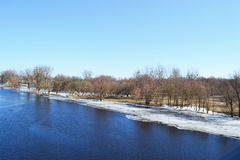 Views of the Pina river Royalty Free Stock Photo