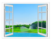 Views of the pond Royalty Free Stock Photography