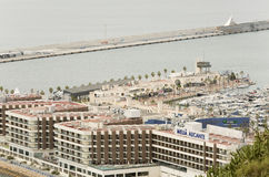 Views of the port of the city of Alicante Stock Photo