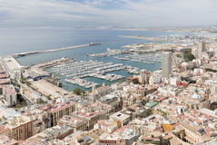 Views of the port of the city of Alicante Royalty Free Stock Images