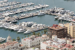 Views of the port of the city of Alicante Stock Image