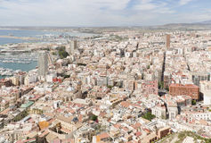 Views of the port of the city of Alicante Royalty Free Stock Photography