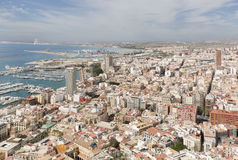 Views of the port of the city of Alicante Royalty Free Stock Image