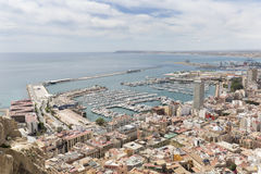 Views of the port of the city of Alicante Stock Images