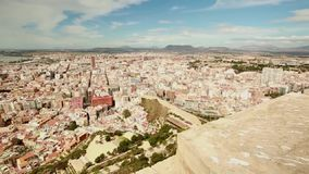 Views of the port of the city of Alicante stock video footage