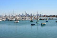 Views of Port Phillip Bay in Australia - Melbourne Royalty Free Stock Image