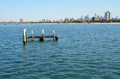 Views of Port Phillip Bay in Australia - Melbourne Stock Photo