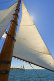 Views of the private sail yacht. Royalty Free Stock Photography