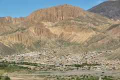 Views from the. Pucara de Tilcara pre-inca fortification,  Jujuy province, Argentina Royalty Free Stock Photos