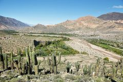 Views from the. Pucara de Tilcara pre-inca fortification,  Jujuy province, Argentina Stock Image