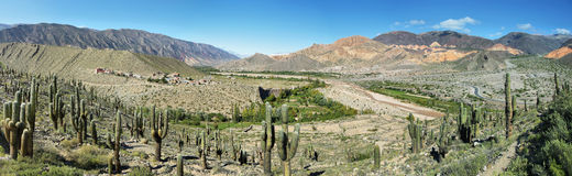 Views from the. Pucara de Tilcara pre-inca fortification,  Jujuy province, Argentina Royalty Free Stock Photo