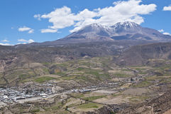 Views of Putre. Putre is a Chilean town in the altiplano at an altitude of 3,500 m (11,438 ft Stock Image