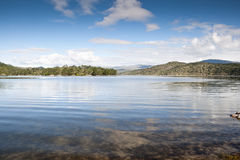 Views of the reservoir of El Burguillo Stock Images